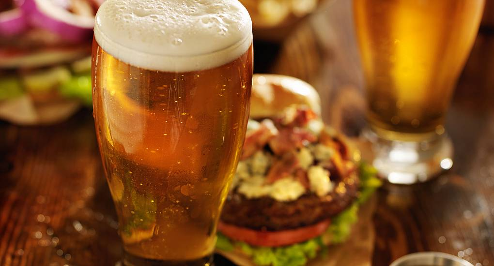 Beer and Burger Meal